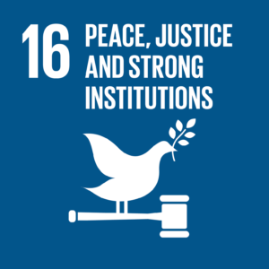Sustainable Development Goal 16: Peace, justice and strong institutions