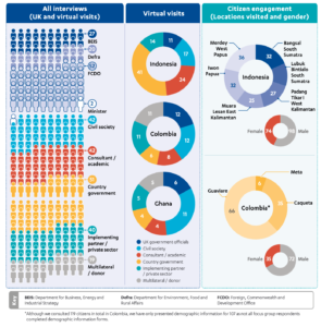 Figure 2: Breakdown of stakeholder interviews, virtual visits and citizen engagement
